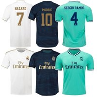 Nouveau 19 20 Real Madrid Maillots danger MODRIC KROOS Hommes Maillots de football SERGIO RAMOS BENZEMA ISCO BALE MARIANO football chemises Thaïlande Qual
