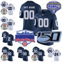 Personalizado PSU Penn State Nittany leões Jersey Jersey Sean Clifford KJ Hamler Jahan Noah Cain Dotson Parsons Freierth Ford Algodão Bacia 150th