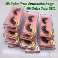1pair / lot 3D Mink cílios Feito à Mão Entrecruzamento pestanas falsas livre de crueldade dramáticas Lashes Mink 3D para Maquiagem