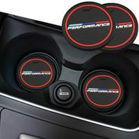 BMW의 M 스티커 X1의 X3 X4 X5들의 X6의 X7 E46 E90 F20 E60 E39 F10 F30 E48를위한 2 개 자동차 실내 물 컵 병 홀더 미끄럼 방지 패드 매트