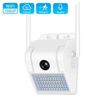 1080P 방수 벽 램프 wifi IP 사진기 IR 야간 시계 인체 카메라 움직임 감지 스마트 램프 야외 카메라 V380