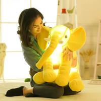 Светодиодный светлый слон подушка детское длинное нос слон фаршированные плюшевые куклы игрушки детские взрослые сна Подушка мягкие животные игрушки подарки