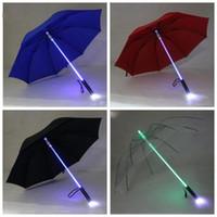 LED Işık Şemsiye Serin Bıçak Koşucu Işık Saber Flaş Gül Şemsiye Gece Yürüyüşü El Fener Şişe Şemsiye Ev Ürün LXL754-1
