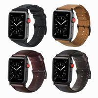 PU-Leder-Uhrenarmband für Apfel Uhr 5 4 3 Band 44mm / 40mm iwatch 5 3 2 1 Band Handgelenk Ersatz-Uhrenarmband
