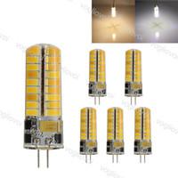 LED Ampuller SMD5730 G4 6 W DC12V 72LED Sıcak Beyaz Mısır Ampul Silikon Lambaları Kristal Avize Ev Işık Eub