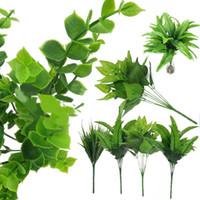 كبيرة 30 سنتيمتر النباتات الاصطناعية واقعية بوش النباتات بوعاء البلاستيك الأخضر شجرة المنزل حديقة مكتب ديكور الزفاف الديكور XD22751