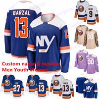 13 Mathew Barzal New York Islanders Jersey 47 Leo Komarov 27 Anders Lee 2 Nick Leddy 53 jerseys Casey Cizikas 17 Matt Martin hóquei