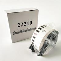 6 X Rolls Brother DK 22210 DK-22210 DK22210 DK2210 DK-2210 DK 2210 Compatibele continue labels 29mm x 30.48m met spoel