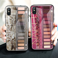 For iphone xs max xr phone case Eyeshadow tray mobile phone ...