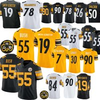 55 Bush 19 Smith-Schuster formaları Pittsburgh 7 Ben Steeler 84 Kahverengi 90 T.J. Watt 78 Villanueva 30 Conner 26 Bell forması
