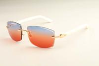 2019 yeni fabrika doğrudan lüks moda ultra hafif güneş gözlüğü 3524015 doğal renk Aztek güneş gözlüğü gravür mercek
