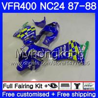 Тела для Honda RVF400R Р VFR400 NC24 Мовистар синий В4 RVF400RR VFR400R 87 88 267HM.14 RVF VFR 400 R VFR400RR VFR 400R 1987 1988 обтекатель комплект