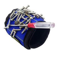 手首のサポート強力な磁気リストバンドのポケットの手首のサポートのツールバッグの手ブレスレットのネジドリルホルダー保持A28