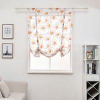 100 * 140cm Cortina Flor Impresso curtas cortinas simples moderno Quarto Sala Tulle Janela Drape Valance Home Decor DBC DH0899-6
