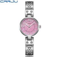 Crrju Moda Mujeres Relojes Analógica Pantalla de acero inoxidable Elegante Reloj de cuarzo Vida impermeable buen regalo Dama reloj con caja