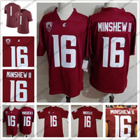 Washington State Cougars 16 Gardner Minshew II 2018 Rosso WSU NCAA College Football Jersey di buona qualità S-3XL