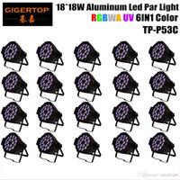 Best Selling 20pcs lot RGBWA UV 6IN1 18x18W Stage Light Led Par Light Professional Wedding Wash Led Par Cans 330W TP-P53C