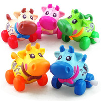 Wind Up Toys Cartoon Cows Running Crawling Kids Jumping Pull...