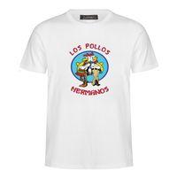 남성 패션 속보 나쁜 셔츠 2018 LOS POLLOS Hermanos T Shirts 치킨 브라더스 짧은 소매 티 히프스터 핫 세일 MC34