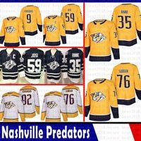 Mens Nashville Raubtiere 35 Pekka Rinne 76 P.K. Subban Hockey-Jerseys 9 Filip Forsberg 92 Ryan Johansen 59 Roman Josi Jersey 2018 2019 Neue