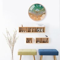 Horloge murale de la mer créative Salon Home Mute Horloge Personnalité Mode Nordic Art Moderne Simplicité Verre Horloge