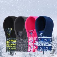 Thicken Fleece Hat Multi-functie Winter Houd Warm met Trekkoord Hoofddeksels Winddicht Anti Statisch Soft Ski Cap ZZA910