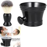 Barbear Caneca Bacia Shaving Brush plástico de homens Barba, Bigode, limpeza Rosto Sabonete Creme Tigela Chávena Para Barber Salon