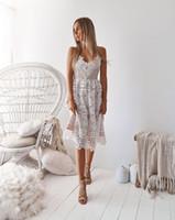 Neue Frauen kleiden Sling Backless weißes Spitzenkleid Ropa de mujer vestidos de verano Frauen Lange Maxi Kleider plus Größe IDD11