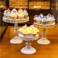 Crystal soporte de la torta de boda de la superficie Postre Bandeja Soporte de espejo decoración de cumpleaños fiesta de la boda torta de pan galletas visualización del letrero 8/10/12 pulgadas