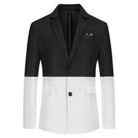 Doppel Farbe Getäfelten Einreiher Herren Mäntel Casual Business Herren Designer Anzüge Mode Lose Männlichen Blazer