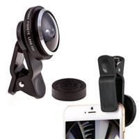 Super 235 ° clip-on acessórios da câmera olho de peixe grande angular lente kits de alta qualidade universal selfie lente para samsung iphone smartphone