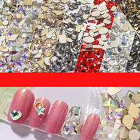 Rhinestones de uñas 3D Crystal AB Clear Nail Piedras Gems Pearl DIY Nail Art Decorations Dorado plata Rhinestone