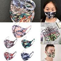 Camo Ice Silk Mask Adults Kids Camouflage Breathable Foldabl...