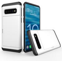 Für Huawei P30 P30 Pro Telefon-Kasten-Mappen-Karten-Slot Schiebetür versteckten Taschen-Kasten für Huawei P Smart-2019