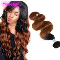 Peruvian Human Hair One Bundle Body Wave 1B 30 Ombre Hair 1B...