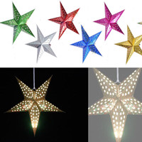 60cm 24 inch shiny star Paper lampshade lanterns flower Part...