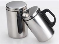 12Oz 17 Unzen Edelstahl Kaffeetasse Tumbler Reisetasse Für Männer Frauen Vakuum isoliert Camping Teeflasche mit Deckel