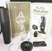 Honigbird Kit NECTAR Collector Vamorizer Rauchen Zubehör mit 510 Gewinde Titan-Tipp Quarz Nagel Keramik Tipps DAB Rig Kits Glas Wasserbongs
