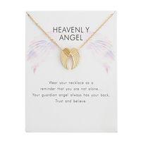Melek kanatları kolye kolye kadınlar için kızlar için alaşım kolye mesaj kartı moda takı hediyeler ile