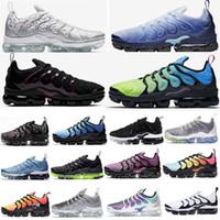 Ücretsiz Run 2020 TN Artı Koşu Ayakkabıları Üçlü Siyah Aurora Yeşil Buz Mavi Asil Kırmızı Volt Gümüş Desenler Erkekler Spor Eğitmenleri oyunu Kraliyet Sneakers
