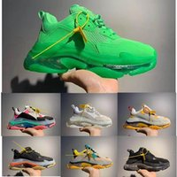 2019 Paris Triple-S 17FW Crystal Bottom Green Luxury Dad Shoes Platform Triple S Zapatillas para hombre Mujer Vintage Kanye Old Grandpa Trainer