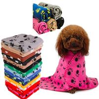 Pet Blanket colorido Garra Impresso Cat Dog Cobertores Double-sided pelúcia macia filhote de cachorro animal de estimação dormir Mat Toalha de banho