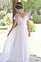 Chiffon-Hochzeitskleid mit tiefem V-Rücken, Spitze und Brautkleid in Übergröße, Promikleider BBG065