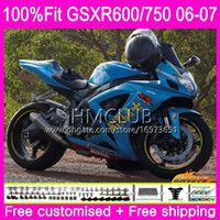 Injection For SUZUKI GSX R600 GSX-R750 GSXR-600 GSXR600 06 07 Top Body 6HM.122 GSX R750 GSXR 600 RIZLA blue 750 K6 GSXR750 2006 2007 Fairing