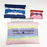 Sacs d'embrayage pastel Kirigami vendu avec boîte Escale enveloppe Style Pochettes Cravate Dye Fashion Pursards