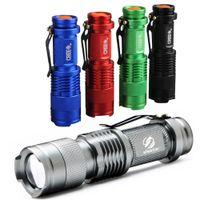 Красочный водонепроницаемый светодиодный фонарик высокой мощности 2000LM Мини прожектор 3 модели Масштабируемое туристическое снаряжение факел фонарик
