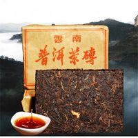 Продвижение 100 г Юньнань традиционный тускло-красный пуэр чай кирпич спелый Пуэр чай органический натуральный черный пуэр чай кирпич старое дерево вареный Пуэр