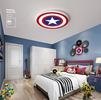 Acrylic Led Captain American Ceiling Light Cartoon Hero Capt...