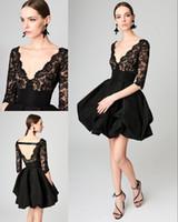 Robes de soirée de bal noir profond v cou de bal dentelle retour rapide formelle robe de soirée dos nu robes de reconstitution historique plus la taille