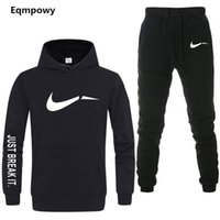 2018 brand sporting suit men warm hooded tracksuit track men...